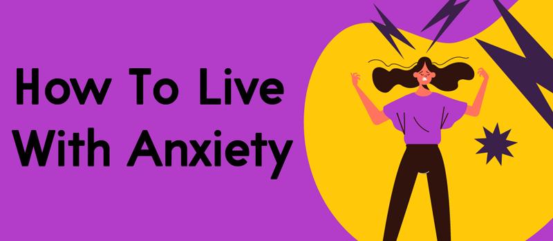 anxious woman cartoon
